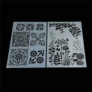 flower-layering-stencils-for-walls-painting-scrapbooking-stamp-album-de-Kn