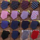 100%Silk Men's Tie Narrow Neck Tie Jacquard Woven Skinny Slim Stripe Plaid Ties