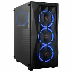 Rosewill-ATX-Mid-Tower-PC-Gaming-Computer-Case-Tempered-Glass-Mesh-4-x-LED-Fans