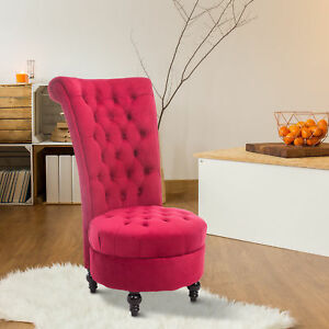 Fabulous Details About Homcom Velvet Accent Chair Upholstered High Back Tub Sofa Living Room Red Ibusinesslaw Wood Chair Design Ideas Ibusinesslaworg