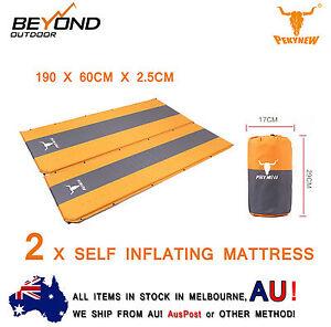 NEW-2-X-Self-Inflating-Mattress-Sleeping-Mat-Bed-Camping-Hiking-Joinable