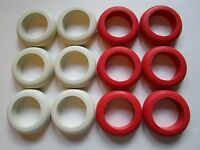 Large Rubber Rings For Bumper Pool Table - 6 Red & 6 White Rings
