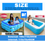 miniature 8 - 10FT Inflatable Swimming Pools For Adult Kids Family Pool Home Indoor Backyard