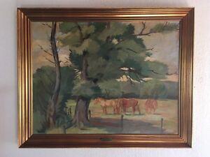 Albert-Svensen-1901-1978-Danish-Listed-Artist-Oil-Canvas-Signed-Dated-1944