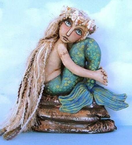 "/""Mermaid On A Rock/"" Cloth Folk Art Doll Sewing Pattern By Susan Barmore"