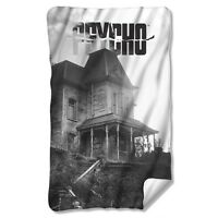 Psycho Horror Movie House Licensed Fleece Throw Blanket 30 X 60 on Sale