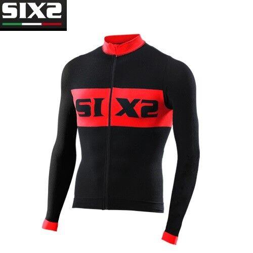 T-shirt lange mouwen Bike Jersey Bike SIXS zwart netwerk BIKE4 LUXURY