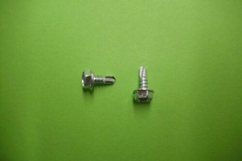 100 St 4,8 x 16 mm NEU Bohrschrauben Sechskant verz