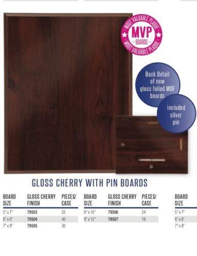 Trophy 6 Blank Award Plaque Boards 6 x 8 Cherry Finish