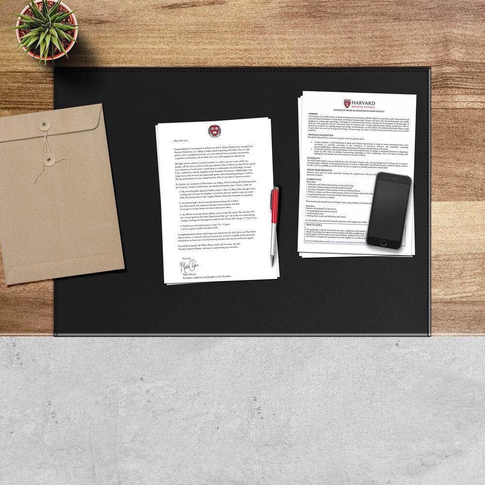 Schreibunterlage aus Leder Schwarz Gleitschutz mit Aufbau aus Stahl cm 70x50 | Moderate Kosten  | Erlesene Materialien  | Marke