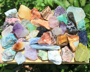 Bulk Crafters 1 lb Mix Natural Gems Crystals Raw Mineral Specimens Rocks 16 oz