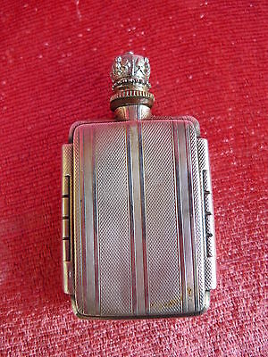 Old Riechflasche __ Flask __835 Silver __ Without Return Glass Contemplative Beautiful