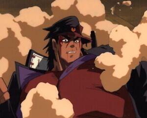 Jojo-039-s-Bizarre-Adventure-Anime-Cel-Douga-BG-Animation-Art-Jotaro-vs-Dio-1993