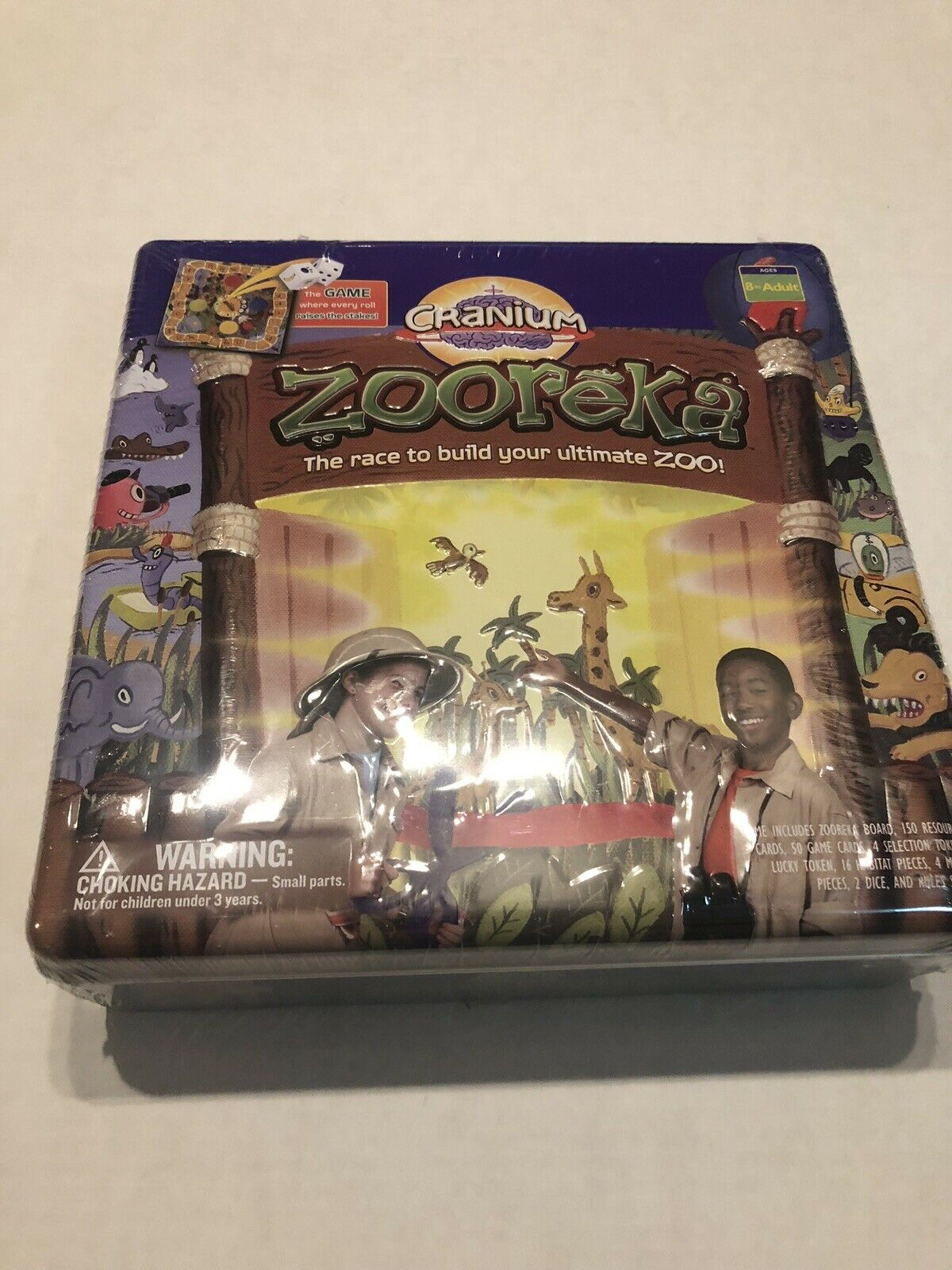 Brand New Sealed Cranium Zooreka Game In Collector's Tin Box