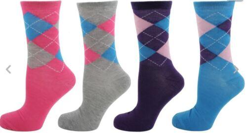 colorate Argyle Calzini UK 4-7 3 progettato 12 coppie signore e ragazze Novità 6
