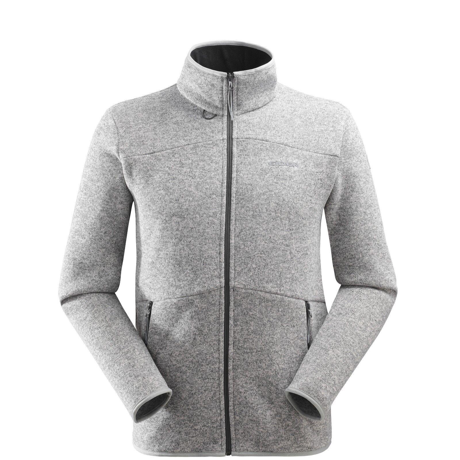 Eider Mission Jacket Men 2.0  Fleecejacke für Herren mit Strickoptik  grau