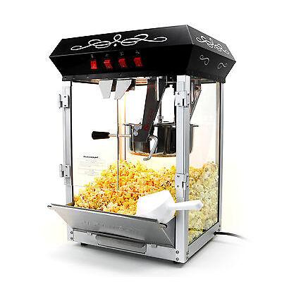 Paramount 8oz Popcorn Maker Machine - New Upgraded 8 oz Hot Oil Popper [Black]