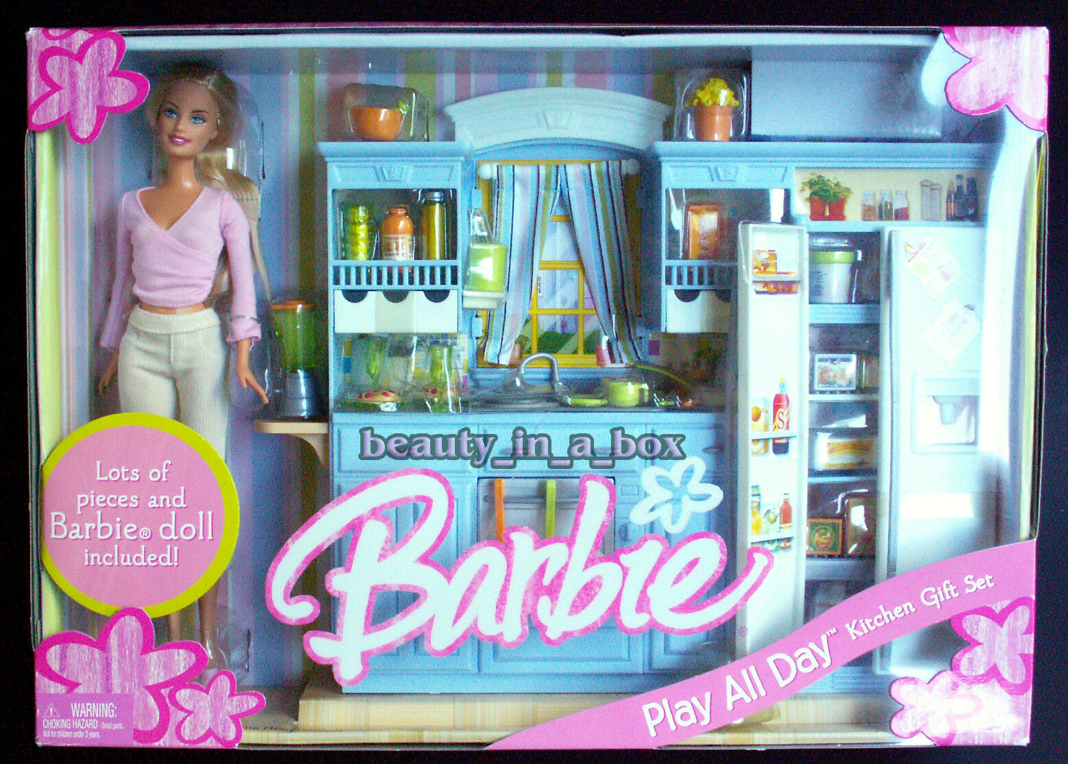 Play All Day Kitchen Gift Set Barbie Doll House Family Playset NRFB