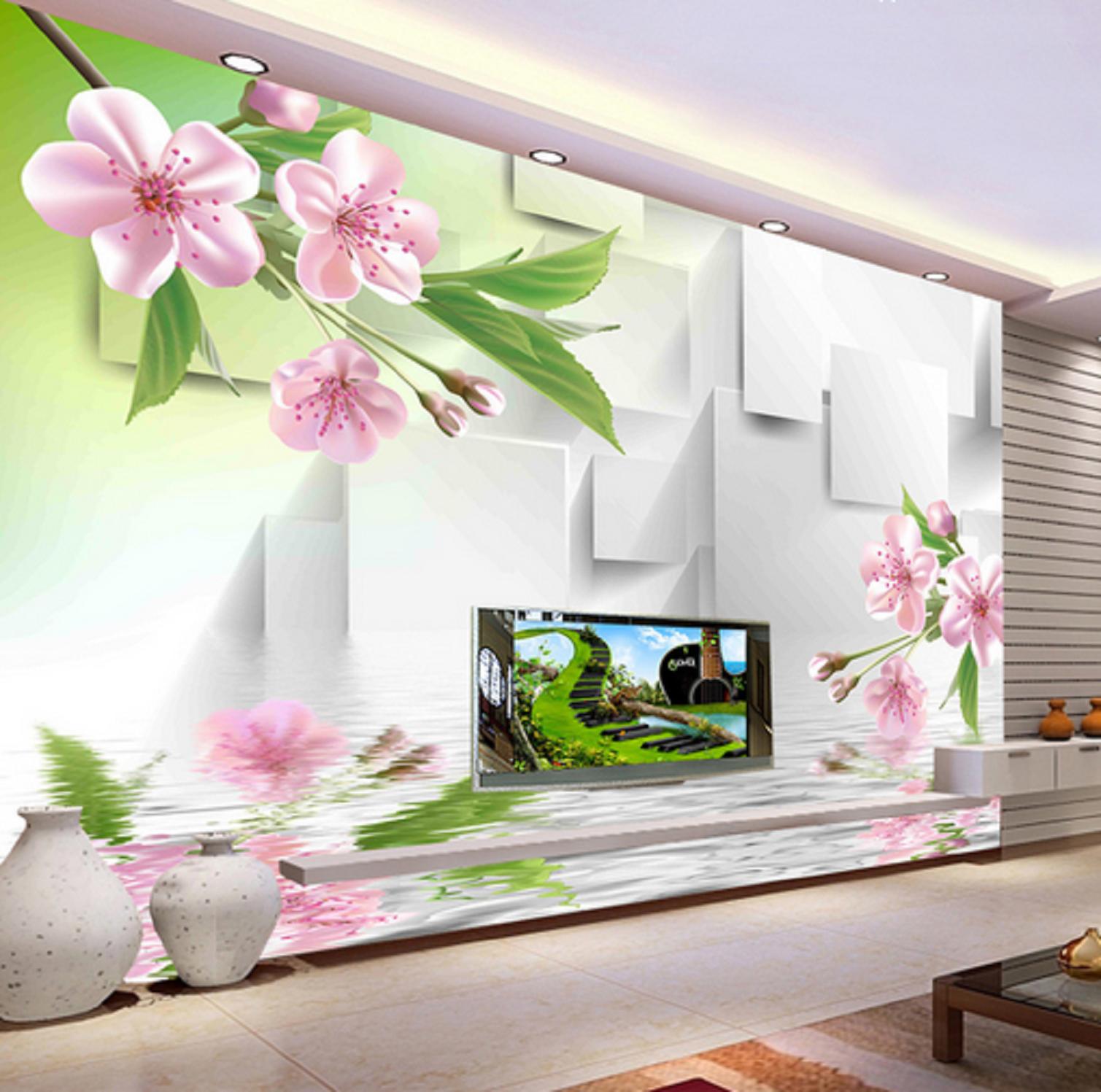 3D Pfirsichblüte Ozean 452 Tapete Tapeten Mauer Foto Familie Tapete Wandgemälde