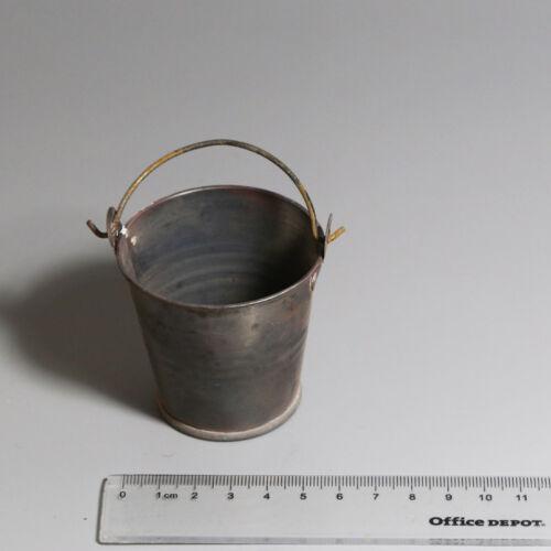 1PC shabby bucket Scene supplies aging pail 1//6 FIGURE in-Stock