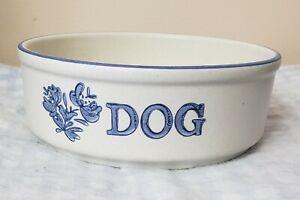 Pfaltzgraff-034-Yorktowne-034-Dog-Bowl-Made-in-the-USA-Used