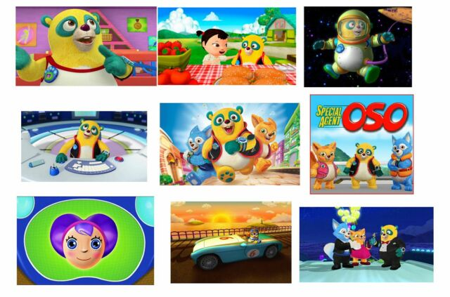 9 Special Agent Oso Inspired Stickers