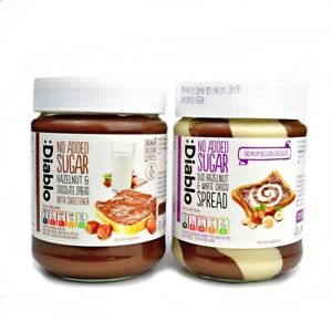 Details About 1x Diablo No Added Sugar Hazelnut Chocolate Or Duo White Spread 350g Not Nutella