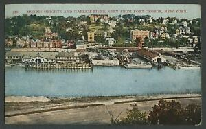 New-York-City-NY-c-1907-09-Postcard-MORRIS-HEIGHTS-amp-HARLEM-RIVER-FORT-GEORGE
