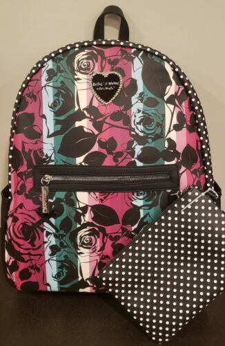 Betsey Johnson Large Printed Backpack In Rainbow NWT