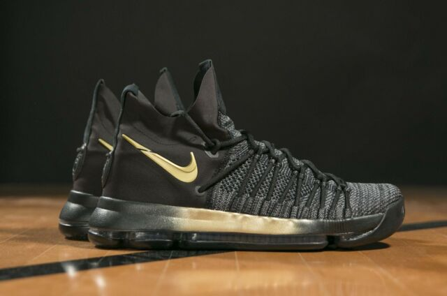 e6d853dad7d NIKE ZOOM KD9 ELITE BLACK GOLD Grey Oreo Kevin Durant 878637 007 Men s 12  Shoes