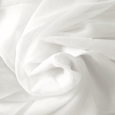 Indian Plain Solid White Color 100/% Cotton Fabric Voile Craft Dressing Material