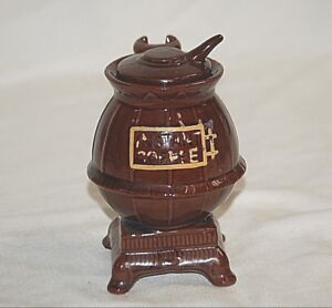 Classic Pot Belly Wood Stove Ceramic Instant Coffee