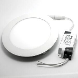 dimmbar 12w lochgr e 160mm led panel leuchte deckenlampe warmwei rund ng7065 ebay. Black Bedroom Furniture Sets. Home Design Ideas