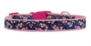 pink-navy-flowers-034-medium-breed-dog-puppy-collar-or-amp-lead-set