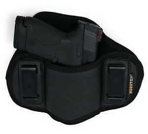 Soft-IWB-Dual-Clip-Pancake-Gun-Holster-for-Smith-amp-Wesson-M-amp-P-Shield-9mm-40-M2-0