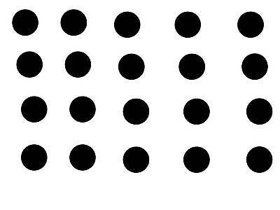 "20 BLACK POLKA DOTS 2"" STICKER DECALS WALL CAR COLLEGE TEACHER DECORATE *A45*"