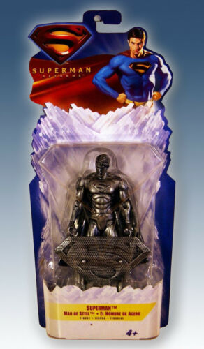 Base NEU /& OVP Superman Returns Exclusive Man of Steel Actionfigur 16cm inkl