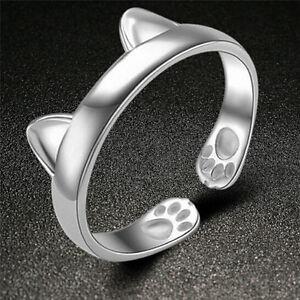 Silver Plated Cat Ear Ring Design Cute Fashion Jewelry Cat Ring For Women YTM0HW - Hessen, Deutschland - Silver Plated Cat Ear Ring Design Cute Fashion Jewelry Cat Ring For Women YTM0HW - Hessen, Deutschland