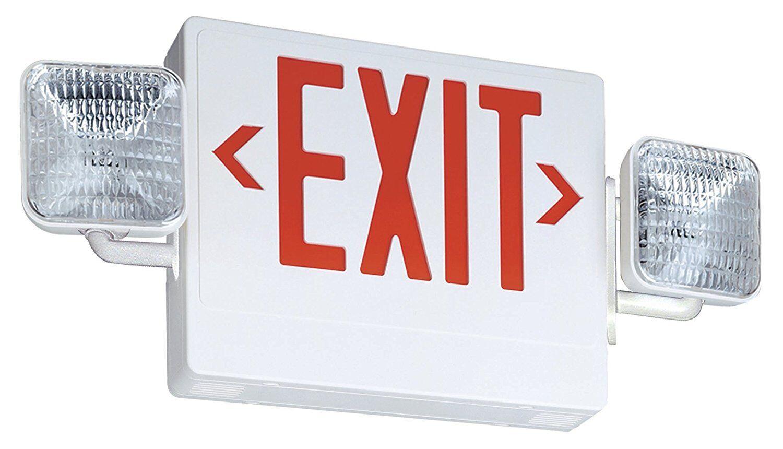 Lithonia - ECR LED M6 Thermoplastic LED Exit Sign Combo Unit