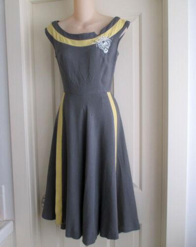 Vintage Natlynn Original Beaded Day Dress 1940s 19