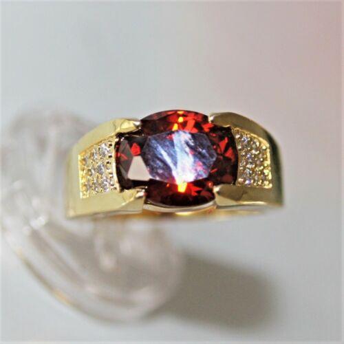 750 rubin granate rojo talla 65 Ø 20,6mm Caballeros esplendor anillo de mujer oro 18k gf Vandersanden.