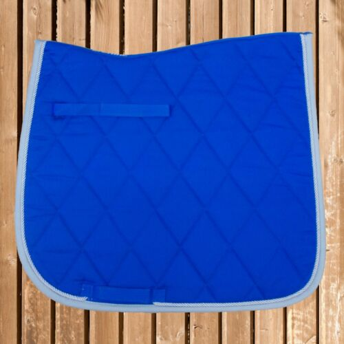 Busse Schabracke Supreme Busse Satteldecke blau-grau Saddle Pad