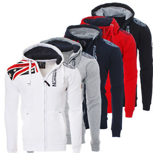 Geographical-Norway-messieurs-Gatsby-hiver-sweat-veste-pull-polo-Hoodie-NEUF