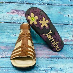 Jambu Bonsai Brown Sandals Comfort Cushioned Sandals Women S Size 7 New Ebay