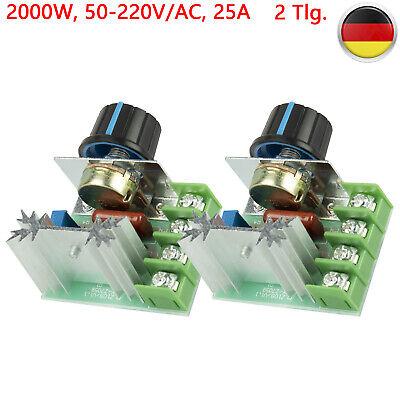 2000W AC 50-220V 25A Pwm Spannungsregler Einstellbar Motor Drehzahlregler San