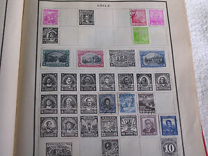 11 Different 1930s Chile Stamps/1-2-3-5-10-20-30 & 50 Centavos/Hinged/Used