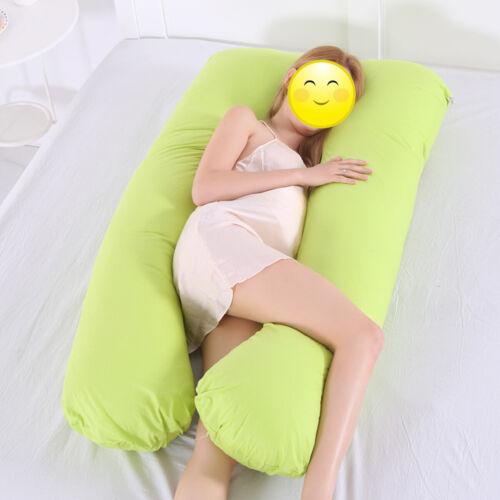 U Shape Pillow Case Cover Cushion Bedding Maternity Pregnancy Arm Body Comfort