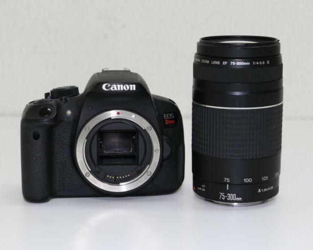Canon EOS Rebel T5i / EOS 700D 18.0MP Digital SLR Camera W/ 75-300mm Lens