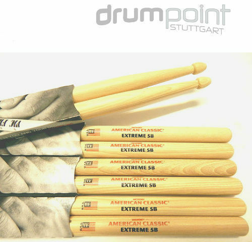 6 Paar Vic Firth American Classic Hickory Extreme X5B  Sticks    TOPANGEBOT