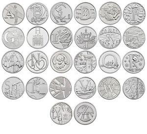 Alphabet-A-Z-10p-Ten-Pence-Coin-hunt-2018-Circulated-Set-collection-Royal-Mint